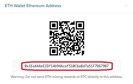 Código QR de monedero Ethereum