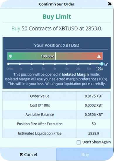 Margin trading-Comprar una posición larga