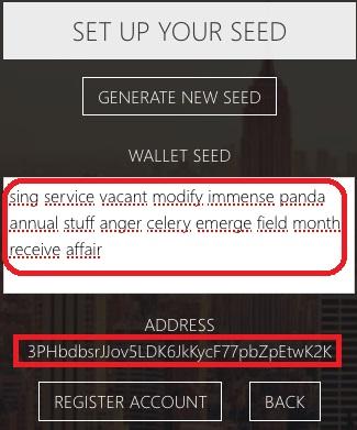 Waves Lite Client-copiar y pegar frase semilla