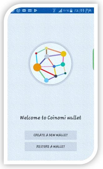 Coinomi-crear nuevo monedero