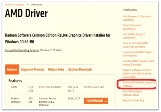 Descargar controlador de la tarjeta gráfica AMD