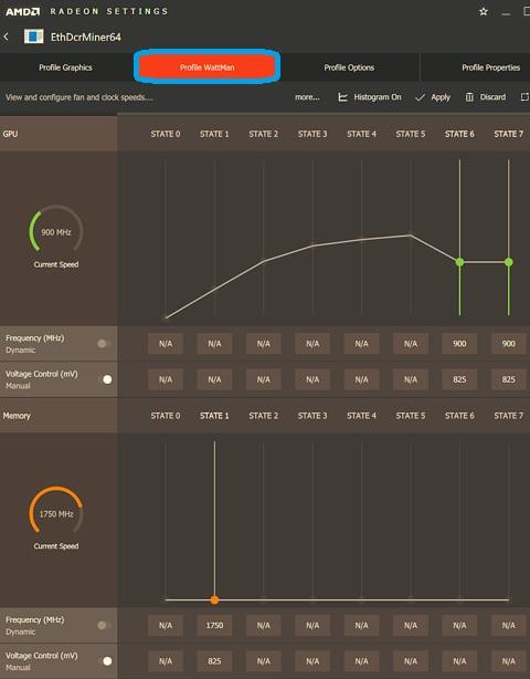 Controlador AMD-configuración de frecuencia