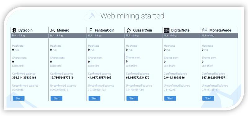 Minergate-minería de webs