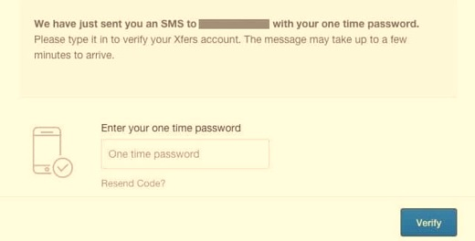 Coinbase. Verificación con SMS